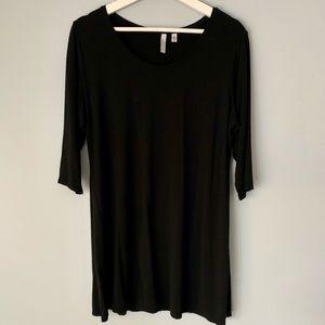 Black 3/4 sleeve Tunic